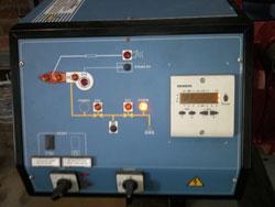 Панель электронного управления со световой индикацией.